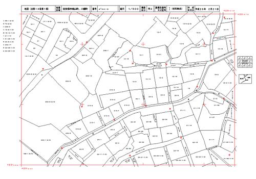 最新の測量技術を活用し登記所備付地図作成事業によって完成した法第14条1項地図